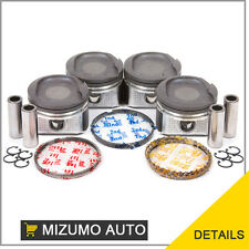 Fit 98-08 1.8L Toyota Pontiac Chevy DOHC Piston Set 1ZZFE