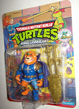TMNT UNPUNCHED VINTAGE 5th anniv figure KING LIONHEART MOC 100% SEALED BEAUTIFUL