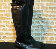 ALDO Ladies Black Leather Knee High Riding Boots UK 4 EURO 37 ONLY £40 NEW