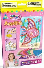 The ORB Factory Sticky Mosaics Singles Angel Fish Craft Kit Set for Kids