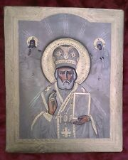 Russian Orthodox , hand painted icon of St. Nicholas