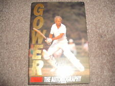 GOWER THE AUTOBIOGRAPHY HB 1992 David ENGLAND LEICESTERSHIRE CRICKET Test Photos