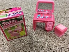Vintage 1980s Barbie Dream Furniture Collection Vanity And Seat In Original Box