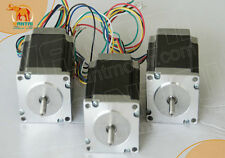 Wantai 3PCS Nema23 Stepper Motor 57BYGH627 270oz-in 3A Bipolar Single Shaft