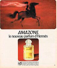 PUBLICITE ADVERTISING  1975   HERMES  parfum AMAZONE