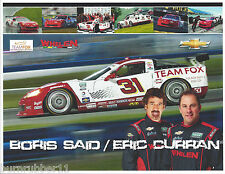 2013 BORIS SAID & ERIC CURRAN #31 TEAM FOX WHELEN GRAND AM ROLEX SERIES POSTCARD