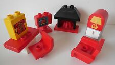 Lego Duplo House / Family  - LIVING ROOM FURNITURE - Fire, TV, Chair, Table +