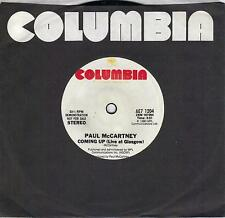PAUL McCARTNEY  Coming Up  special 1-sided promo 45 from 1980  THE BEATLES
