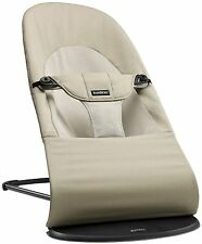 Baby Bjorn Baby Balance Soft Bouncer Rocker in Khaki and Beige New!!