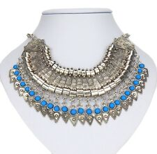 Statement Kette silber blau by Ella Jonte Ibiza Style new collection Halskette