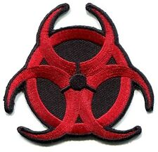 BIOHAZARD hazardous waste/radiation EMBROIDERED IRON-ON PATCH **Free Shipping**