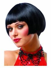1920'S 20S ADULT ROARING FLAPPER JAZZ GATSBY SHORT BOB COSTUME WIG BLACK