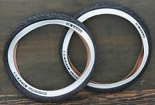 "26""x3"" Whitewall Cruiser Bicycle Slick TIRES Vintage Schwinn Chopper Beach Bike"