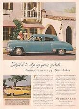 1947 STUDEBAKER COMMANDER 4-DOOR SEDAN Full-Color Advertisement
