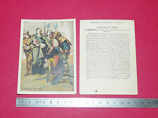 RARE CHROMO 1910-1914 ENSEIGNEMENT PATRIOTIQUE PAR IMAGE VINCENT DE PAUL