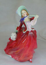 VINTAGE ROYAL DOULTON AUTUMN BREEZES WEARING CRANBERRY DRESS