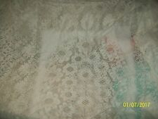 "Vintage Style White Floral Lace Huge 50 x 98"" Rectangular Tablecloth Cover"