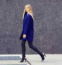 NWT $798 Elie Tahari Dalia Coat Long with Stand Collar Wool Size XS Royal Blue