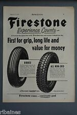 R& L Ex-Mag Advert: Firestone Tyre, Motorcycle, Bike