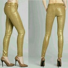 GUESS BY MARCIANO THE ZIP POCKET SKINNY NO. 67 - GOLD LEAF WASH SZ 27