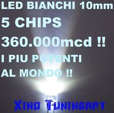 n°1 HI POWER DIP LED WHITE 1W BIANCHI 10mm 40° ALTA POTENZA Ultra luminosi 300mA