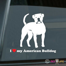 I Love My American Bulldog Sticker Die Cut Vinyl - Bull Dog