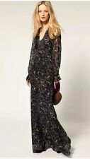 WINTER KATE Sweet Rose Vintage Silk Long Maxi Dress $635 XS EUC Clearance!!!