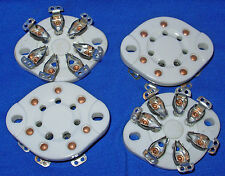 Four New Ceramic 7 pin Vacuum Tube Sockets for 1625, 59, 6A6, etc