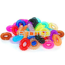 Elastic Phone Wire Band Tie Coiled Hair Bands Ponytail Random Color 10Pcs