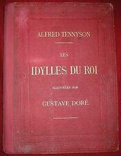 ALFRED TENNYSON LES IDYLLES DU ROI 36 GRAVURES DE GUSTAVE DORE 1869 EO LEGENDE