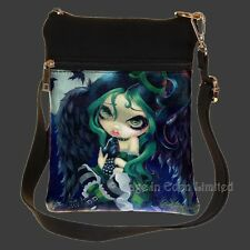 PERCHED & SAT &  NOTHING MORE Fairy Art Shoulder Bag By Jasmine Becket-Griffith