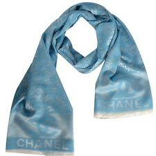 Women/Girl Fashion Brand Pure Silk Blue Scarf Wrap Shawl Classic Stole L-68XW-36