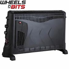 New J-Living 2000 Watts Convector Heater Electric 24 hour Timer an Turbo Fan