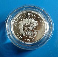 1995 £2 Silver Proof Piedfort 50th Anniversary of UN