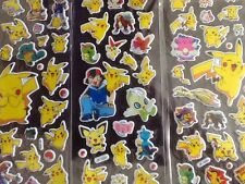 POKEMON PIKACHU childrens Puffy PVC Stickers 12 Packs 3 Different 4 Of Each