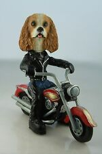 CAVALIER BRN WHITE    DOG ON A MOTORCYCLE(SEE ALL BREEDS  BODIES @ EBAY STORE