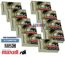 MAXELL FOR PANASONIC VHS-C Video Tape Pack -10 Tapes TC-30