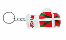 mini boxing gloves keychain keyring key chain ring NEW leather flag EUSKADI