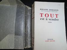 Tout est à Vendre de Roland Dorgelès - 1956