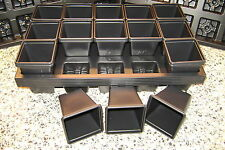 COMBO DEAL 30 X  CARRY TRAYS FOR 7CM SQUARE PLASTIC PLANT POTS AND 450 POTS