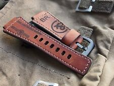 24mm AMMO  Handmade quality leather watch strap,army ,Bell & Ross logo