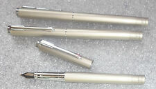 lot 3 Wing Sung fountain pen satin silver casings unused