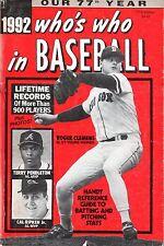 1992 Who's Who in Baseball magazine, Roger Clemens, Cal Ripken, Jr. ~ Fair