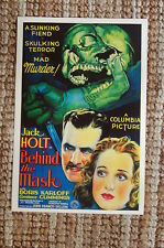 Behind the Mask Lobby Card Movie Poster Jack Holt