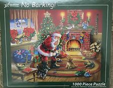 Christmas Jigsaw Puzzle By Vermont 'No Barking!' 1000 Pieces NEW