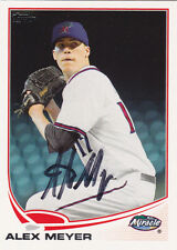 ALEX MEYER FORT MYERS MIRACLE MINNESOTA TWINS SIGNED 2013 TOPPS PRO DEBUT CARD