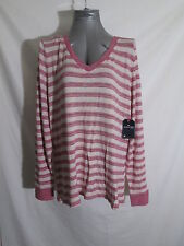 St John's Bay Long Sleeve Lightweight Rayon Blend Sweater Women's XL Pink Cream