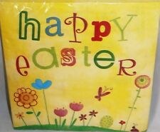 """EASTER Luncheon Napkins HAPPY EASTER  20 Ct 2 Ply  12 7/8"""" X 12 3/4"""""""
