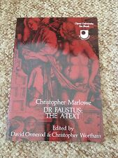 DAVID ORMEROD, CHRISTOPHER MARLOWE. DR FAUSTUS: THE A-TEXT