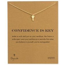 """Dogeared Gold Dipped Confidence Is Key 16"""" Reminder Necklace"""